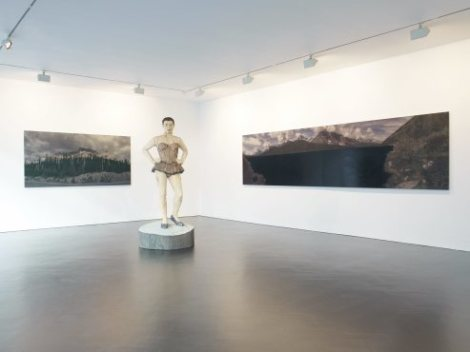 Installation view of 'Ballerina', 'Wood' and 'Lake', 2013, © the artist. Image courtesy of the artist and Stephen Friedman Gallery, London. Photo: Stephen White.