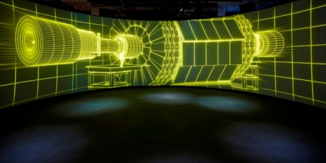 Collider video projection © Science Museum / Nick Rochowski