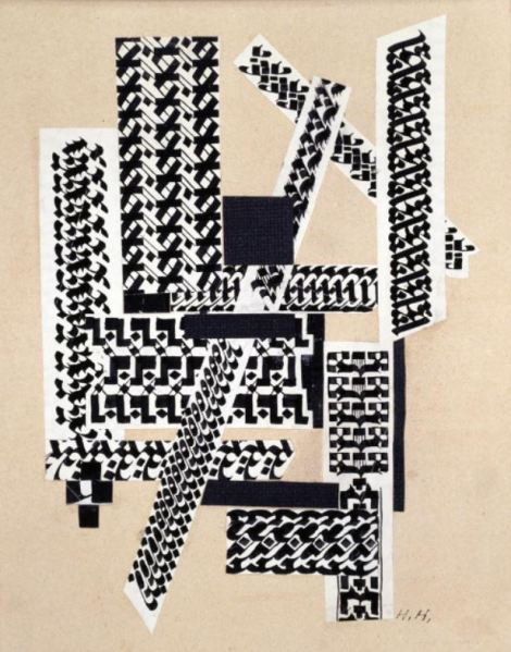 Hannah Höch, Rohrfeder Collage (Reed Pen Collage), 1922, Landesbank Berlin AG