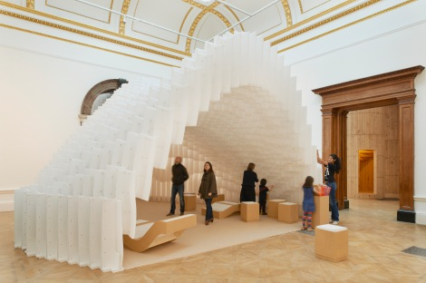Installation by Diébédo Francis Kéré.  Photo © Royal Academy of Arts, London, 2014. Photography: James Harris.