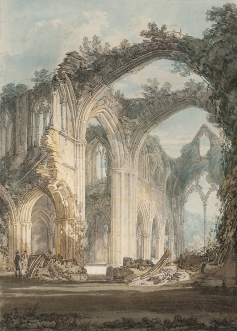 JMW Turner, Tintern Abbey: The Crossing and Chancel, Looking towards the East Window, 1794, Tate
